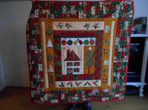 A Christmas quilt.